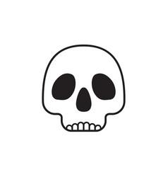Skull isolated vector