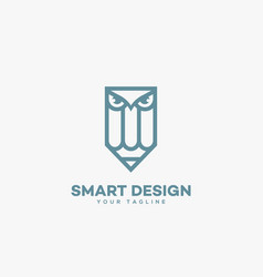 smart design logo vector image