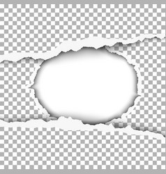 Snatched middle of paper with torn edges vector