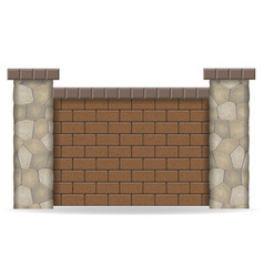 Stone fence vector