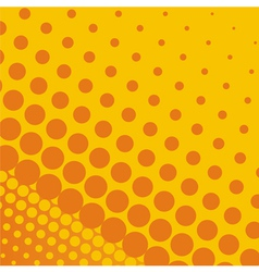 Summer background with orange and yellow dots vector