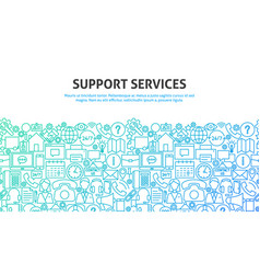 support services concept vector image