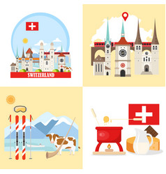 switzerland backgrounds collection vector image