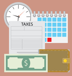 time for pay tax vector image