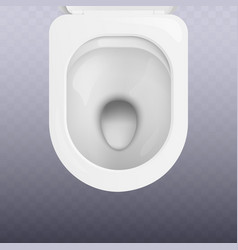 top view clean white toilet bowl seat realistic vector image