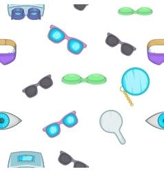 Vision pattern cartoon style vector