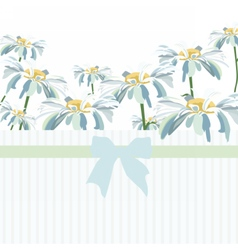 Watercolor Chamomile flowers vector