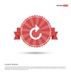 web refresh icon - red ribbon banner vector image