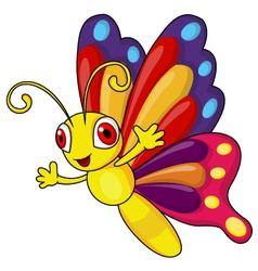 Funny butterfly cartoon vector