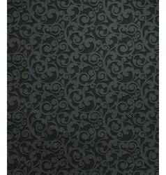 Black vintage seamless pattern vector image vector image