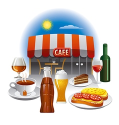 cafe service vector image vector image