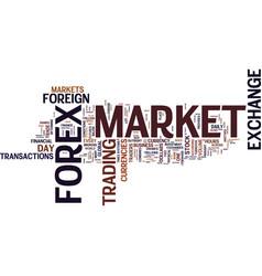 Forex profits text background word cloud concept vector
