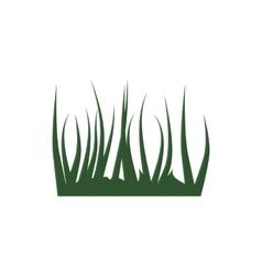 Green grass icon cartoon style vector image