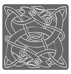 monochrome icon with celtic art vector image vector image