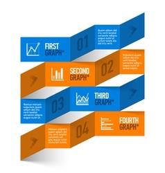 Stock chart theme modern infographics vector image vector image