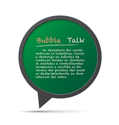 3D bubble talk frame Design element EPS10 vector image vector image