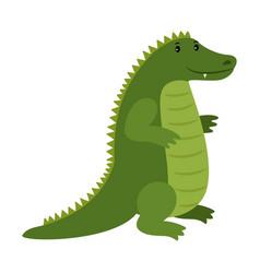 alligator happy cartoon crocodile mascot vector image