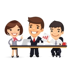Business Team Working on the Project vector image