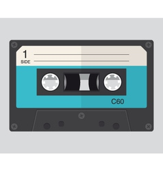 cassette audio flat design vector image