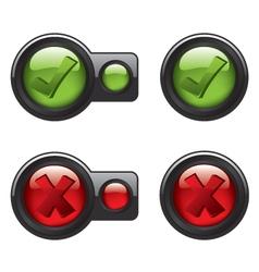 Check mark icon buttons vector image