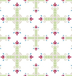 Elegant floral pattern with leafs and flowers vector image vector image