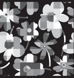 elegant floral seamless pattern vector image vector image