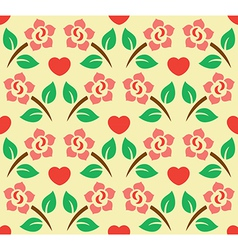 Flower Decoration Pattern 4 vector image vector image