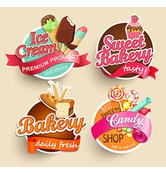 Food Labels and Stickers vector image vector image