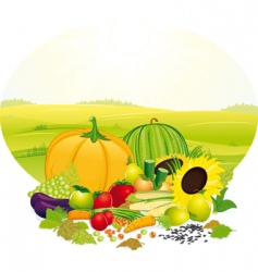 fresh crop vector image vector image