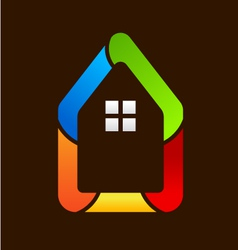 House Icon Style Logo vector image vector image