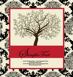 invitation card with abstract floral background vector image vector image