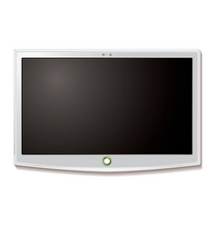 Lcd tv wall hang white vector