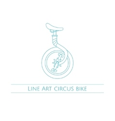 Line Art Circus Bike vector image