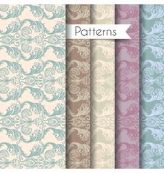 Seamless patterns set eps 10 vector image