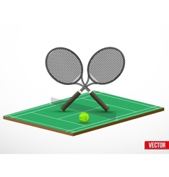 Symbol of a tennis game and court vector image vector image