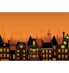 the night city vector image vector image