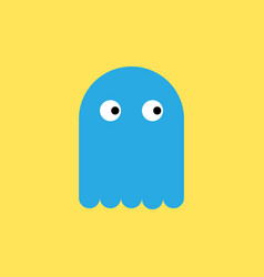 blue toy ghost in flat style vector image vector image