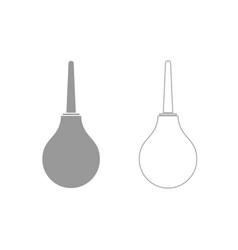 enema grey set icon vector image vector image