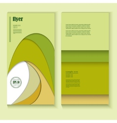 flyer with abstract green pattern vector image vector image