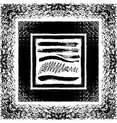 Grunge brush seamless frames strokes pattern vector