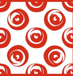red circle shaped hearts vector image vector image