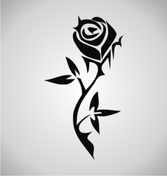 Tribal Rose Tattoo vector image vector image