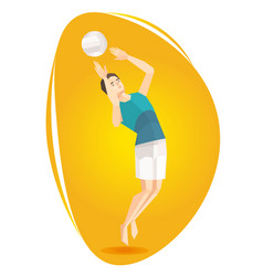 a volleyball athlete vector image