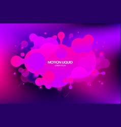 abstract liquid background design vector image