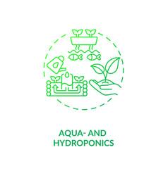 Aqua and hydroponics concept icon vector