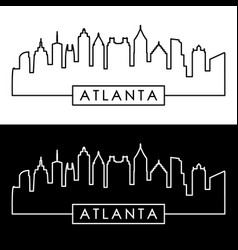 Atlanta skyline linear style editable file vector