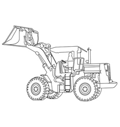 Back Hoe outline vector