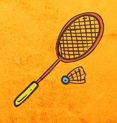 Badminton Cartoon vector