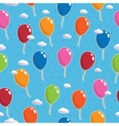 balloon pattern seamless vector image
