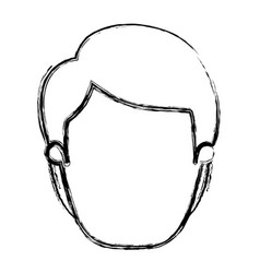 blurred silhouette caricature front view faceless vector image